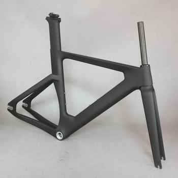 2019 OEM new full carbon track frame road frames fixed gear bike frameset with fork seat post  carbon bicycle frame - DISCOUNT ITEM  16% OFF All Category