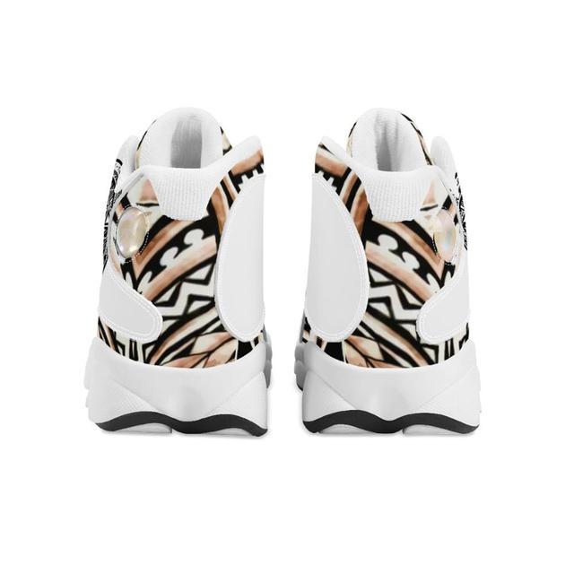 Diseño de lujo de la Polinesia Samoa tribu estilo niño zapatillas de deporte Zapatos de bola Logo de equipo deportivo de Baloncesto de los hombres zapatos deportivos 3