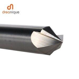 Image 3 - Cnc タングステン超硬面取りフライスカッターアルミ銅、 60 90 120 度バリ取りエンドミル 90 度の v 溝ルータービット