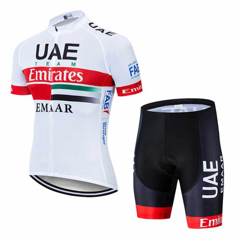 2019 uae ciclismo equipe jérsei ciclismo roupas de secagem rápida bib gel terno roupas de bicicleta maillot roupas esportivas