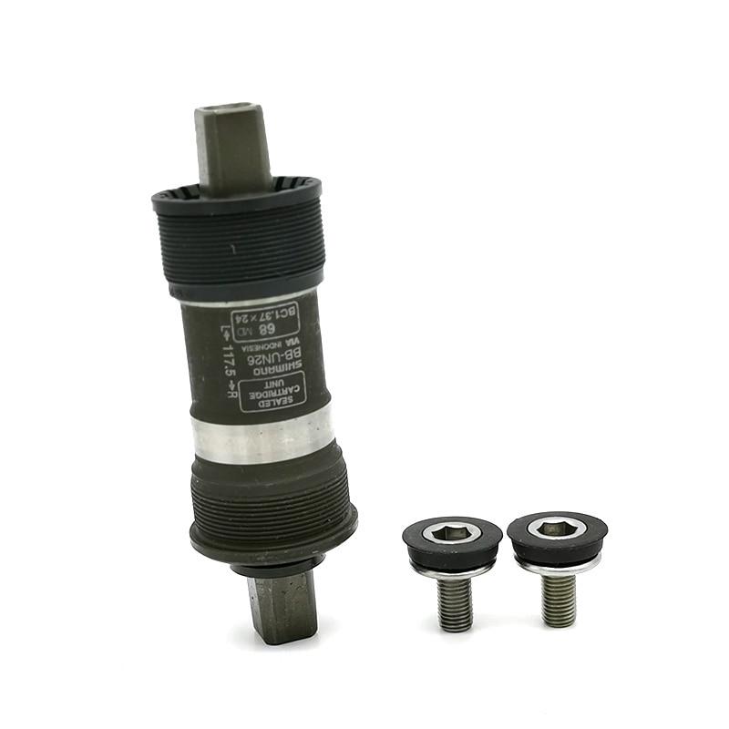 Shimano BB-UN26 68mm X 117.5mm Sealed Square Hole Bottom Bracket With Crankscrews ES25 UN55 UN100 BB 68/73 110/113/118mm