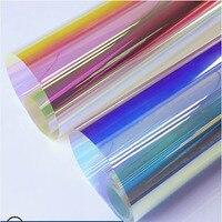 HOHOFILM 1.37x15m 2Colors Rainbow Effect Rainbow Window Film Iridescent Glass Film Window Film for Building Store Dichroic