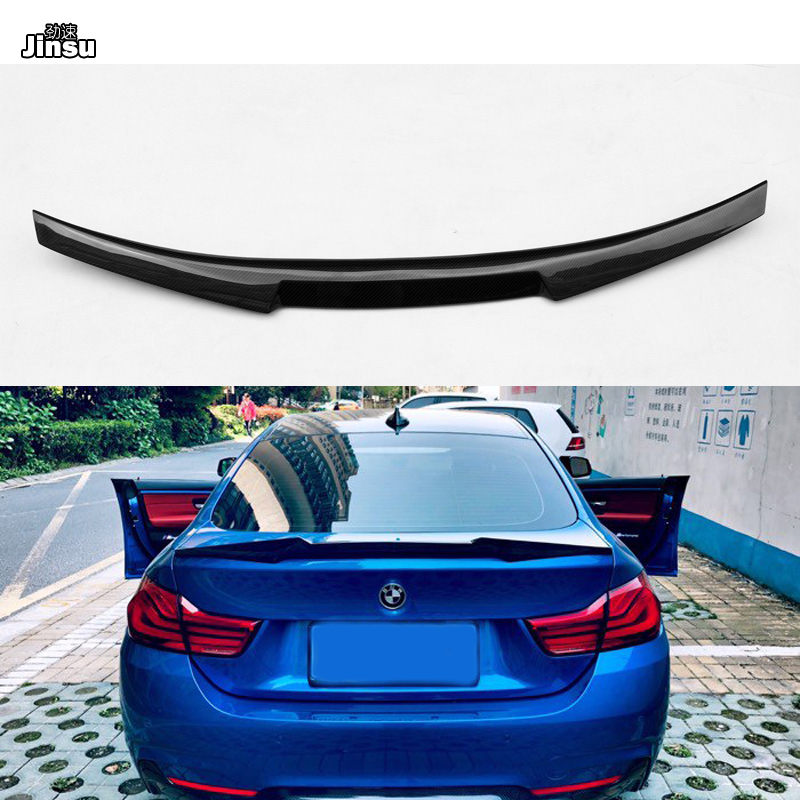 2014-2018 F32 BMW 4-Series Coupe 2dr Carbon Fiber Rear Trunk Spoiler Lip Type C