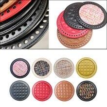 Diy crochet bag nail bottom shaper pad leather weaving insert