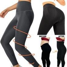 Shapewear anti celulite compressão leggings perna emagrecimento corpo shaper cintura alta barriga controle calcinha coxa escultura mais magro