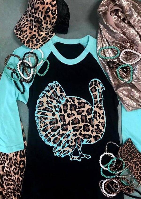 Women Wild Gobbler Leopard Printed Baseball T-Shirt Femme Graphic Aesthetic Harajuku Tees Ladies Cute Vogue Korean Clothes 2019