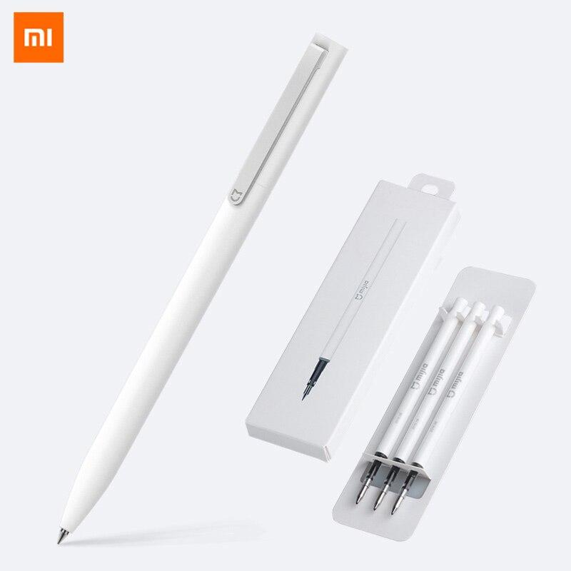 Xiaomi caneta mijia caneta mi sinal canetas com 0.5mm swiss recarga 143mm rolo de rolamento tinta preta xiomi assinatura canetas esferográficas para a escola