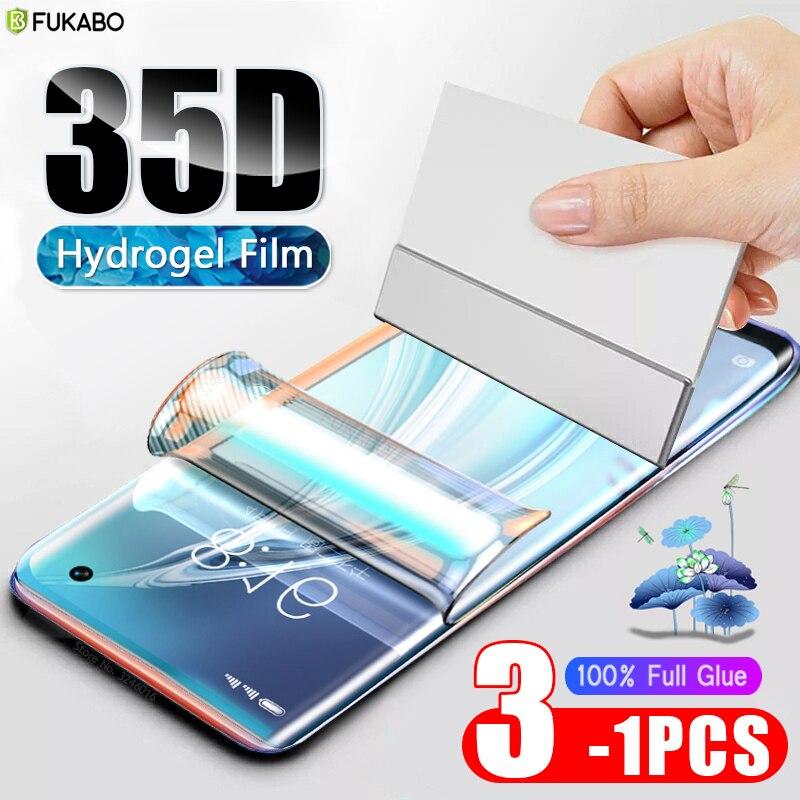 35D Front Hydrogel Film For Xiaomi Redmi Mi 10 9t Pro Mi A3 8 9 Lite Screen Protector For Xiaomi Mi Note 10 Pro 9 Se (Not Glass)