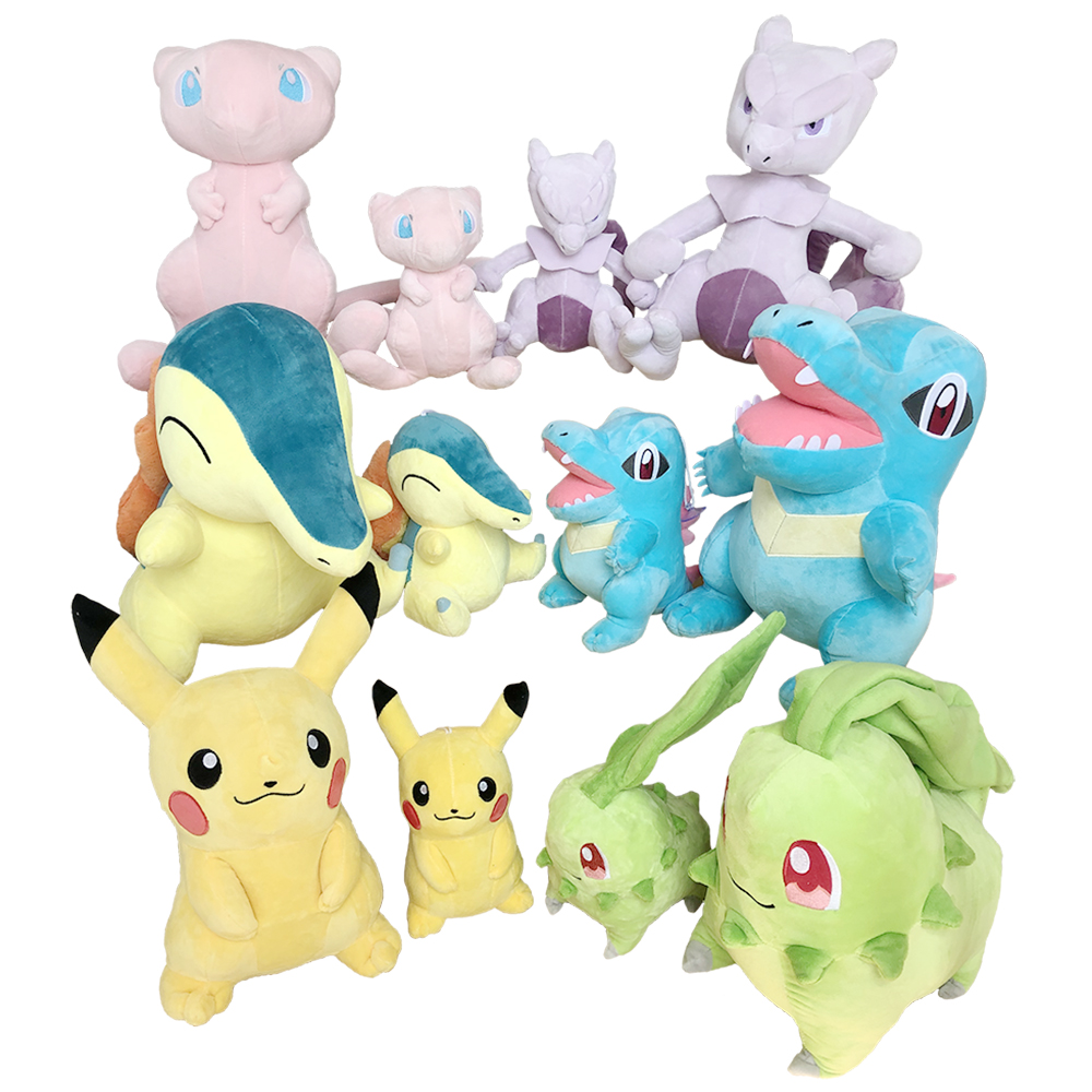 Pikachu Eevee Plush Toys Jigglypuff Squirtle Charmander Gengar Animal Plush Stuffed Toys For Children Event Gift