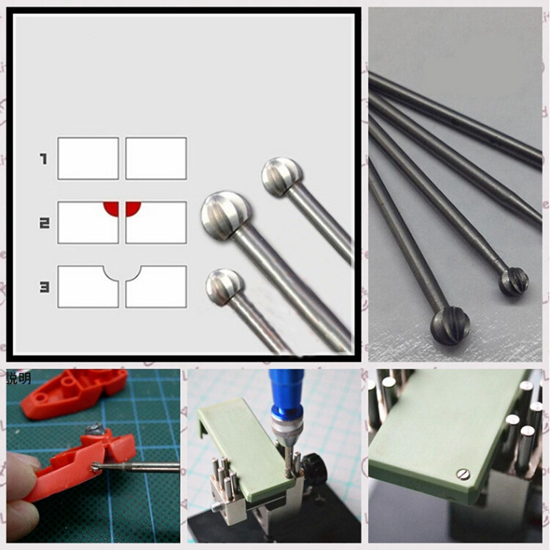 For Gundam Military Model One Piece Drilling Bit Detail Transformation Etching Plate Grinding Head