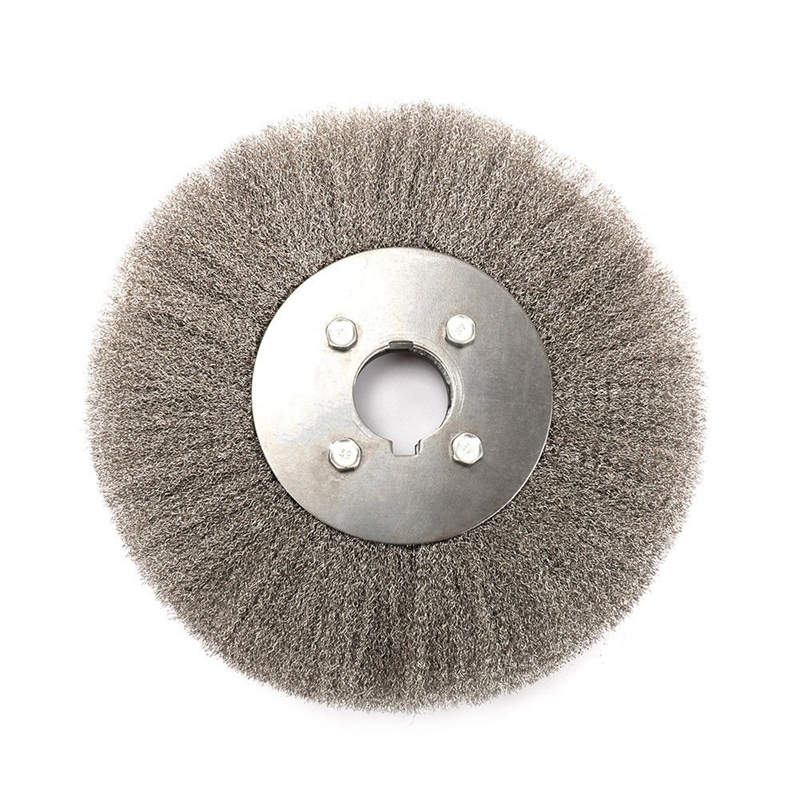 GTBL 250 X 32mm Stainless Steel Wire Flat Stainless Steel Wire Wheel Flat Wire Brush Wood Polishing Head Tool Accessories