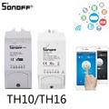 Интеллектуальный выключатель света SONOFF TH10/TH16 Беспроводной переключатель Wi-Fi Сенсор работать с Alexa Google Home Ewelink для интеллектуальное реле для ...
