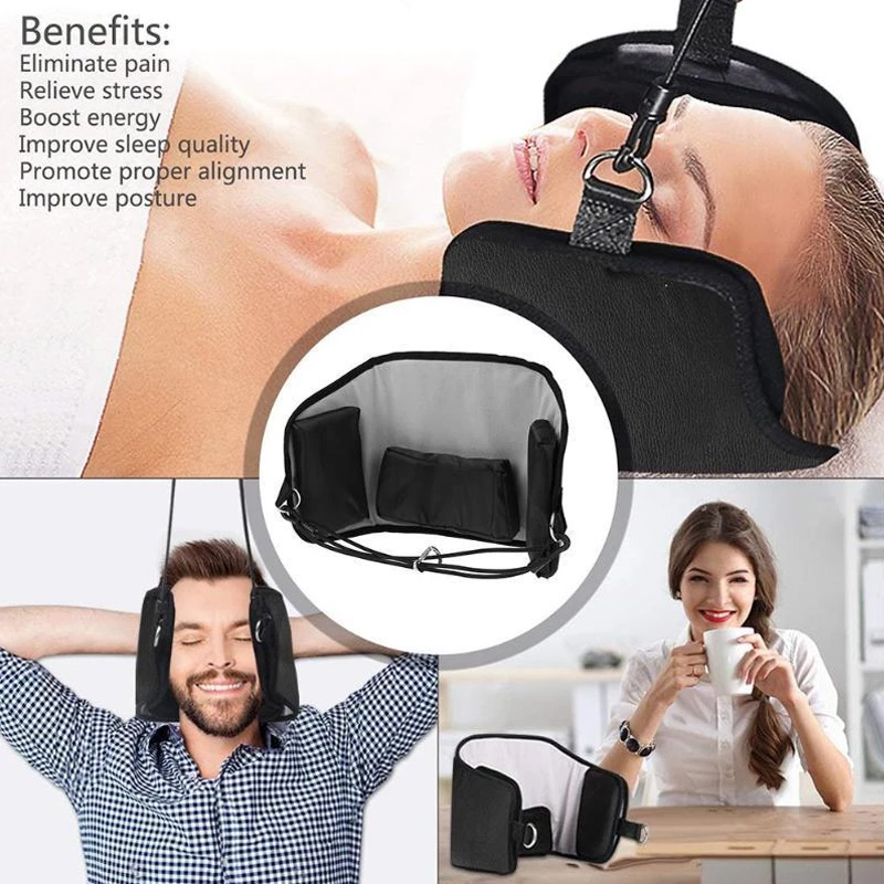 Neck Hammock Family Black Pillow Nap Head Hammock Canvas Comfortable Relief The Pain Tourism Outdoor Correct Posture