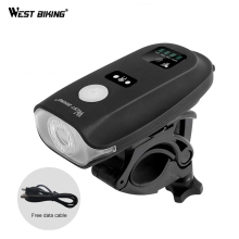 WEST BIKING Bike Bicycle Light For MTB Mountain Waterproof Bike Bicycle Front Light Cycling USB LED Lights Cycling Accessories bikein road bike led front light taillight usb rechargeable light cycling mountain bike handlebar mtb bicycle accessories