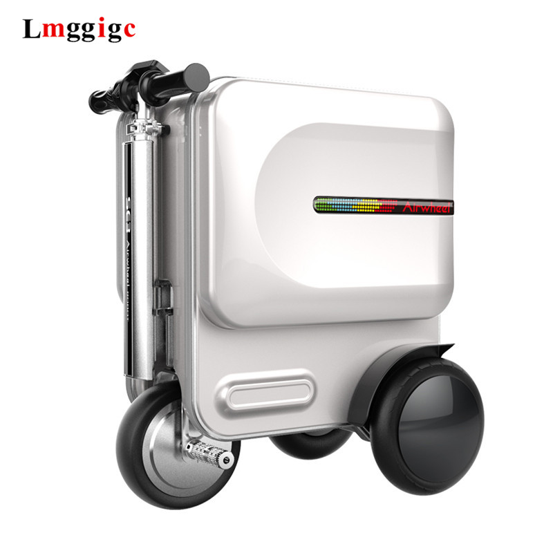 Electric Riding Travel Rolling Luggage Bag,Intelligent Wheel Suitcase,Rideable Trolley Case ,Cabin Luxurious Carry On Box