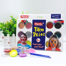 20pcs/set 12-color Face Color Body Paint Children's Face Makeup Water Soluble Oil Cosplay Halloween Party Makeup Painting party cosplay zombie teeth 6 color face body painting pigment white red multi color