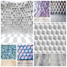 Laeacco 3D אפקט אבן קיר Photophone עץ רצפת צילום רקע תפאורות צילום דיוקן Photozone עבור תמונה סטודיו