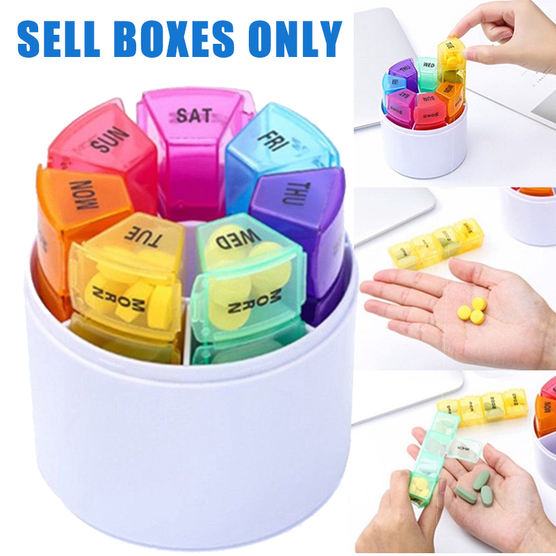 1pc Plastic 28 Slots 7 Day Weekly Vitamin Pill Box Organizer Medicine Vitamin Capsule Tablet Dispenser Case for Daily Medication