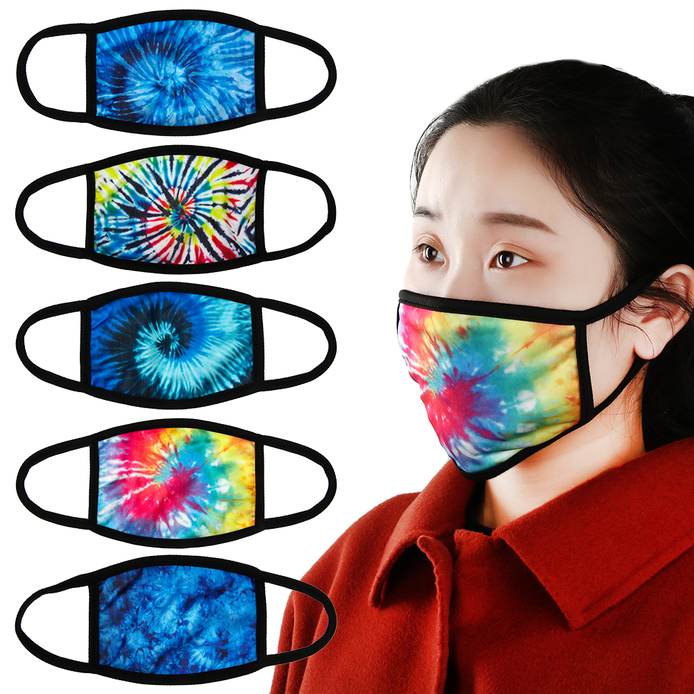1 Pcs Unisex Fashion Reusable Washable Anti-Dust Face Masks Anti-Haze Printed Breathable Cotton Fabric Dustproof Mouth Mask