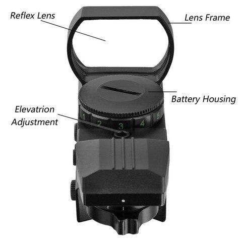 tactical reflex 4 diferentes reticulos tatico ak ar15 side scope montar caca