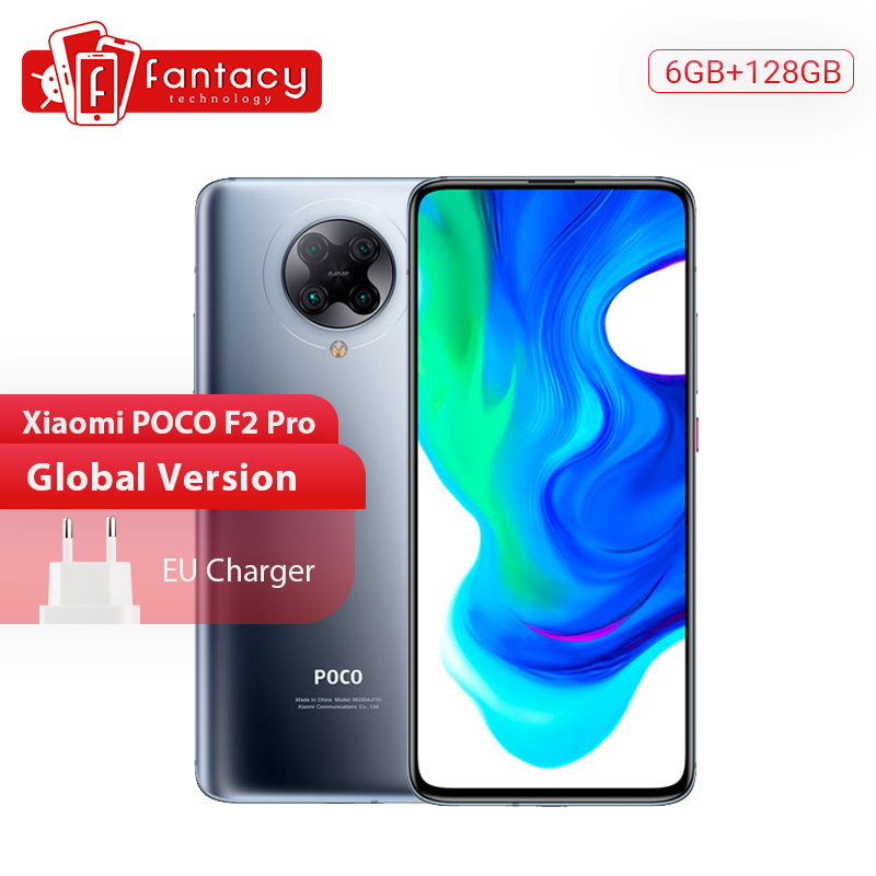 "Global Version Xiaomi POCO F2 Pro 5G Smartphone 6G 128G Snapdragon 865 64MP Quad Cam 6.67"" Mobile Phones 4700mAh 30W Fast Charge"