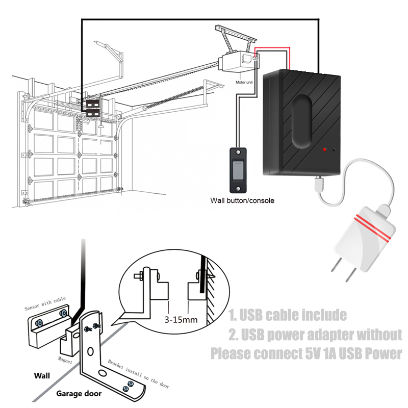 Ultimate SaleDoor-Opener Wifi Garage Smart-Gate Alexa Controllor Android-App Google Home with Echo