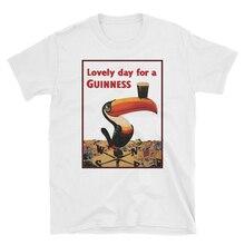 Precioso día para un Guinness Vintage cerveza Ads camiseta Unisex ropa de marca camiseta