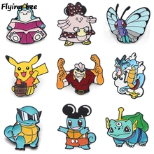 Flyingbee Funny Kawaii Cartoon Anime Enamel Pin Brooch Collection Metal Lapel Badge for Women Men Jewelry Gifts X0412
