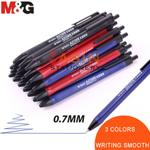 M&G 40pcs Classic TR3 Writing Ball Point Pen 0.7mm Balck/blue Economic for School and Office Gift Supply  Ballpoint