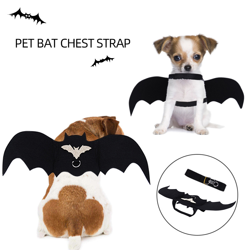 Cute Halloween Cat Dog Costume Small Pet Cat Bat Wings Fancy Dress Up Halloween Cat Accessories Halloween Decorations K1814 J Dog Accessories Aliexpress
