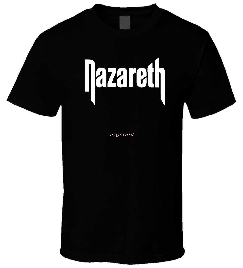 NAZARETH 6 Nieuwe Hot Koop Zwarte Mannen T-shirt Katoen Maat S-3XL T-Shirt Casual Korte Mouw voor Mannen kleding Zomer