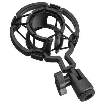 Universal Professional Condenser Microphone Mic Shock Mount Holder Studio Recording Bracket For Large Diaphram Mic Clip mk f200fl 3 5mm audio wired sound recording condenser microphone with shock mount holder clip for gaming video chatting