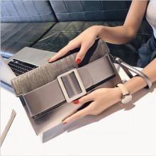 Women's Envelope Bag Luxury High Quality PU Bow Messenger Bag Simple Short Handle Bag Fashion Evening Dress Female's Bag
