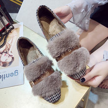 Casual Woman Platform Shoes All-Match Dress Flats Women Elegant 2019 Fashion Women's Autumn Loafers Fur Modis Moccasin On Heels(China)