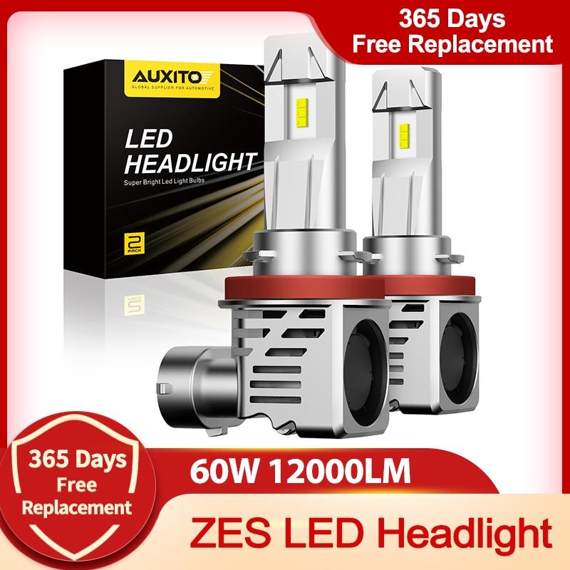 Автомобильные светодиодные лампы H4 H7 H11 ZES 6500K 9003 лм 60 Вт 9005 H9 H8 HB3 9006 HB4 12 В 24 В