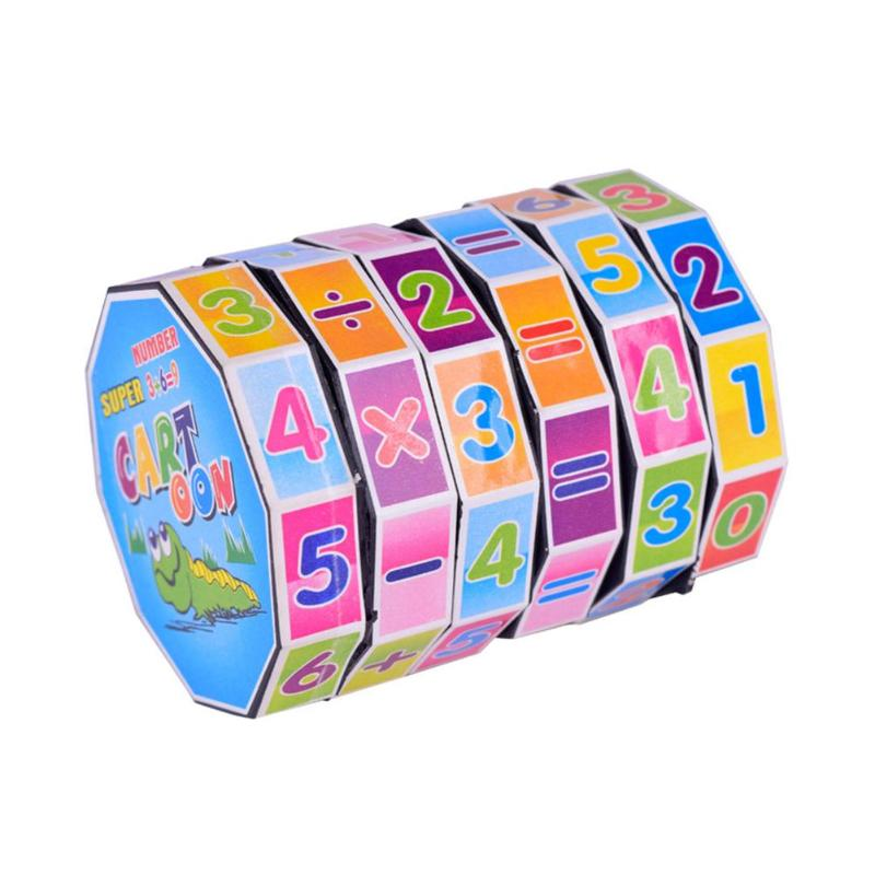 Plastic Colorful Fun Counting Block Cylindrical Number Toy For Kid Learning