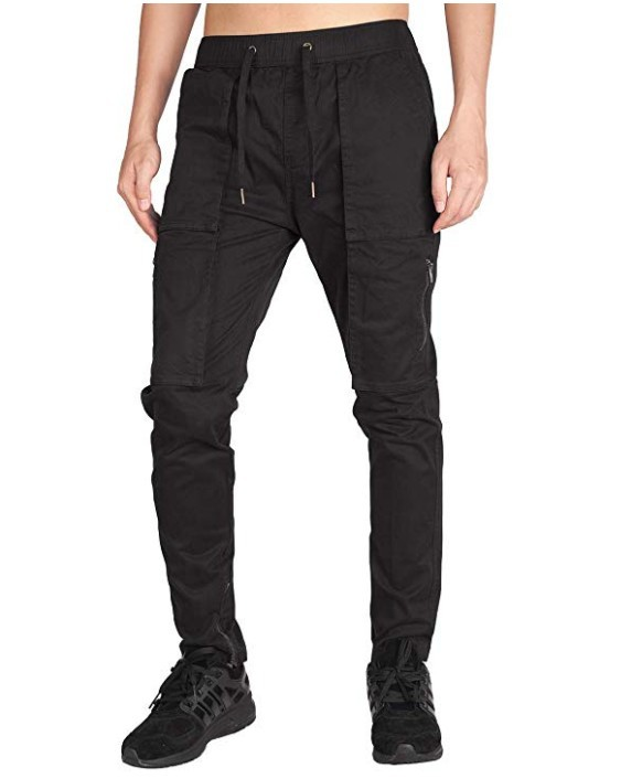 Hot Selling Workwear Multi-pockets Trousers Men Tatting Casual Pants Ankle Banded Pants C101
