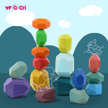 Toy Educational-Toys Puzzle Jenga-Game Building Wooden Colorful Kids Children for Nordic-Style