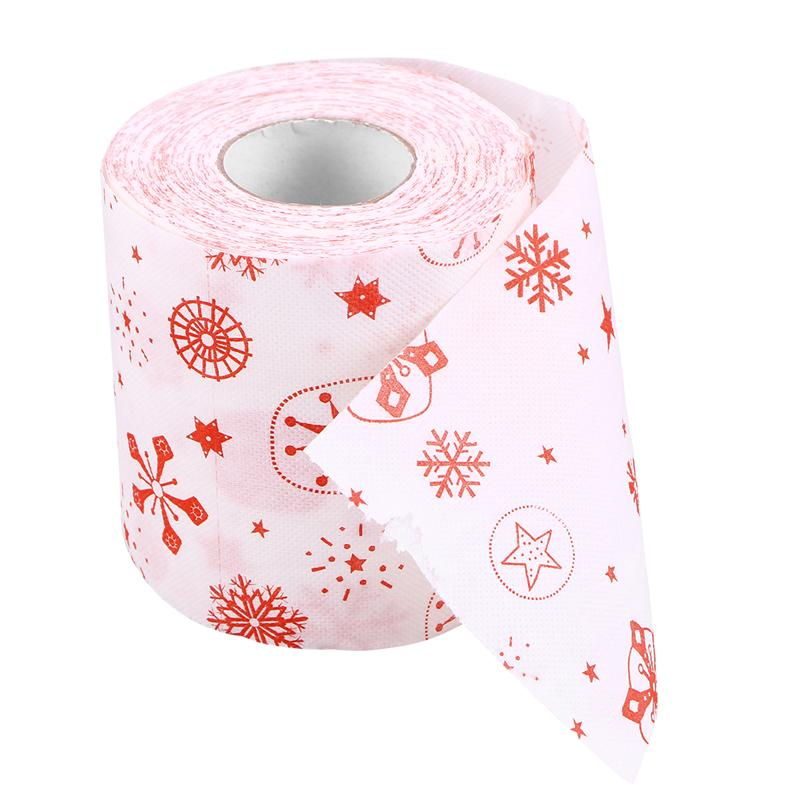Creative Santa Claus Tissue Toilet Paper Roll Party Gift Merry Christmas Roll Paper For Table Living Room Bathroom