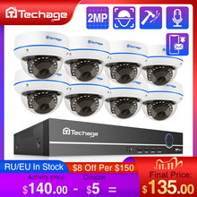 Techage H.265 8CH 1080P POE NVR Kit CCTV Home Security System 2MP Audio Recorder Indoor Dome IP Camera Video Surveillance Set