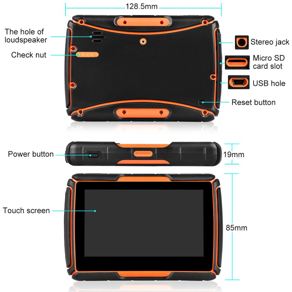 Neueste Fodsports GPS Moto Navigator 4,3 zoll Mit DVR IPX7 Wasserdichte Android System WIFI Bluetooth Motorrad GPS Navigation