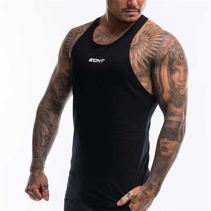 Fashion Brand Gyms Clothing Singlet Canotte Bodybuilding Stringer Tank Top Men Fitness Shirt Muscle Guys Sleeveless Vest Tanktop