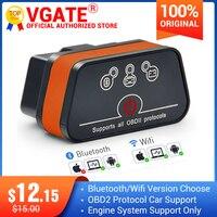 Vgate iCar2 obd2 الماسح الضوئي ELM327 BT الدردار 327 V2.1 obd 2 wifi icar 2 السيارات أداة تشخيص ل أندرويد/PC/IOS رمز القارئ