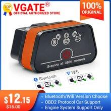 Vgate iCar2 ELM327 obd2 skaner Bluetooth elm 327 V2.1 obd 2 wifi icar 2 automatyczny skaner diagnostyczny dla Androida / komputera / IOS czytnik kodu