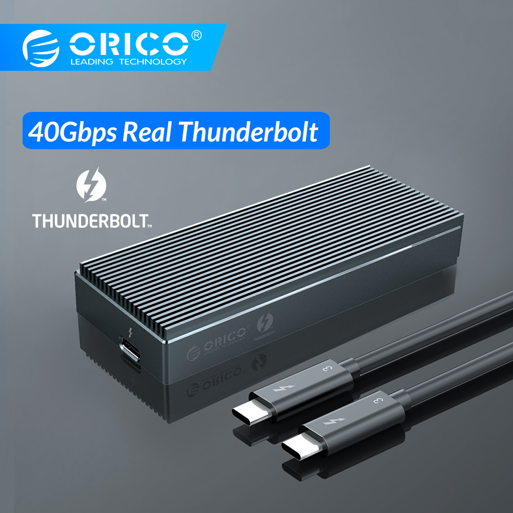 ORICO Thunderbolt 3 40Gbps NVME M.2 SSD Enclosure 2TB Aluminum USB C With 40Gbps Thunderbolt 3 C To C Cable For Laptop Desktop