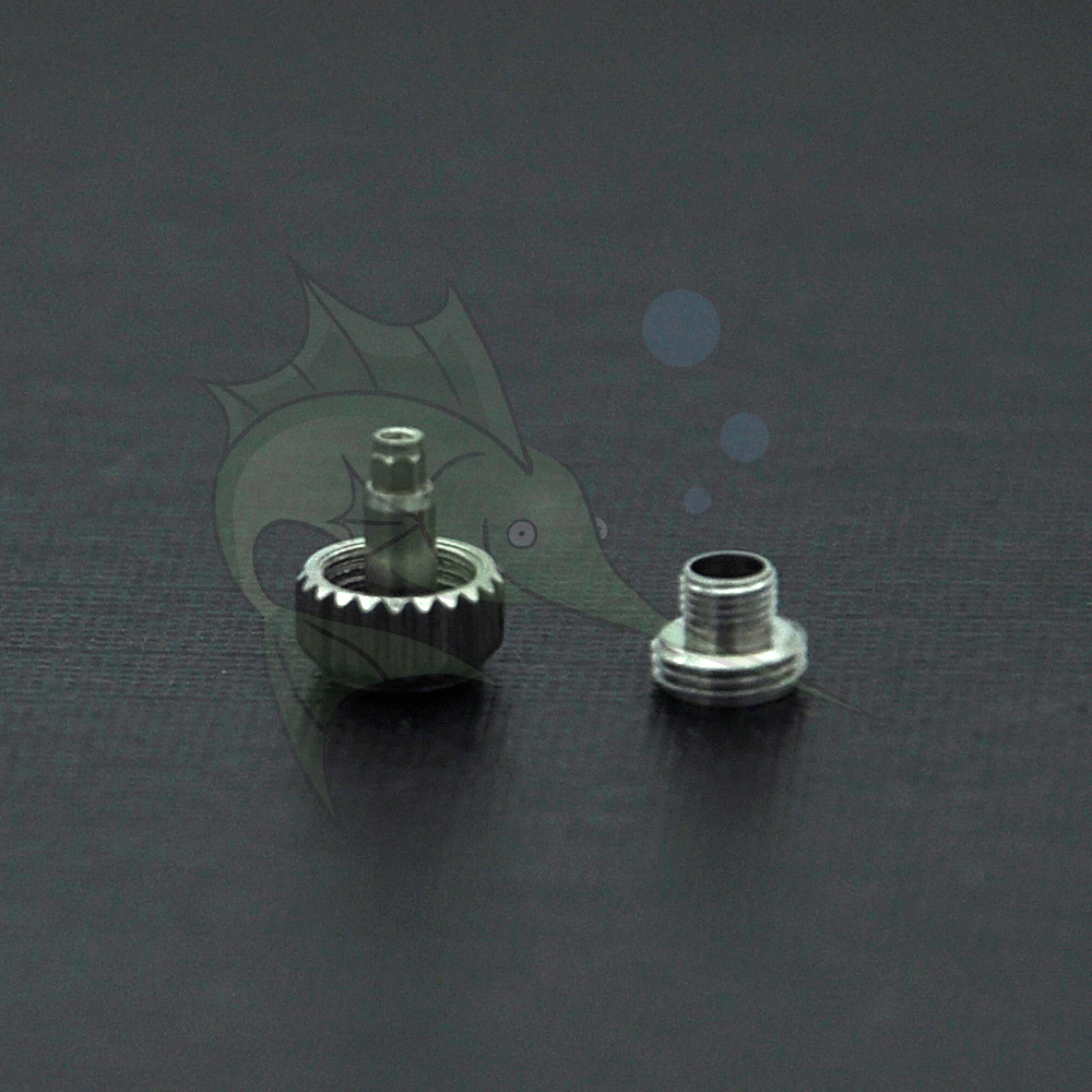 5.3mm / 6.0mm Assort Size Watch Crown Part, ETA 8200 Movement Watch Crown Repalcement Parts Wicth Screw Tube For Watchmakers