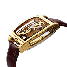 New Fashion Transparent Automatic Mechanical Watch Men Skele