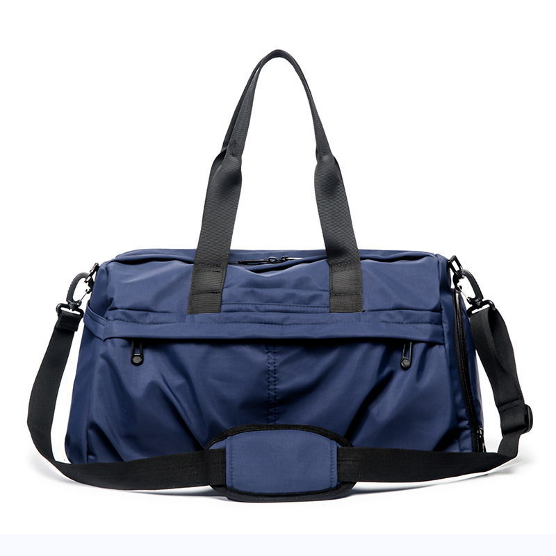 Ougger Big Luggage Bag Travel Casual Handbags Shoulder Bags For Men Blue Nylon Latest Model Korean Style Waterproof Sports Bags