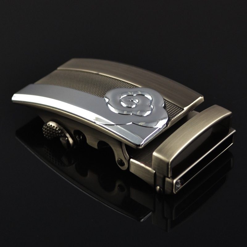 New Men's Belt Head, Belt Buckle, Leisure Belt Head Business Accessories Automatic Buckle Width 3.5CM Luxury Fashion LY125-0363