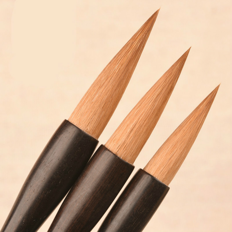3pcs/set Brush Pen High Grade Chinese Calligraphy Pen Adult Pure Weasel Hair Chinese Painting Calligraphy Brushes Tinta China